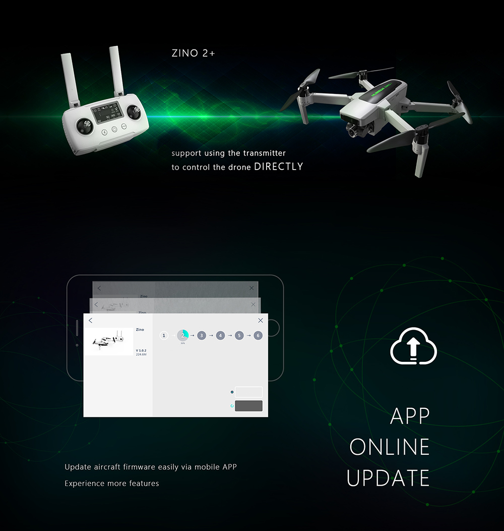 Hubsan Zino 2+ Plus RC Drone Quadcopter - White One Battery with color box