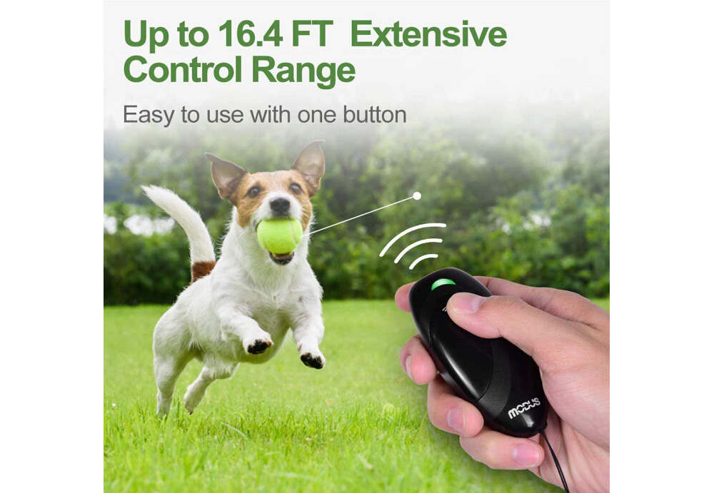 Manual Ultrasonic Bark Stop Trainer Ultrasonic Portable Dog Training Collar - Gray