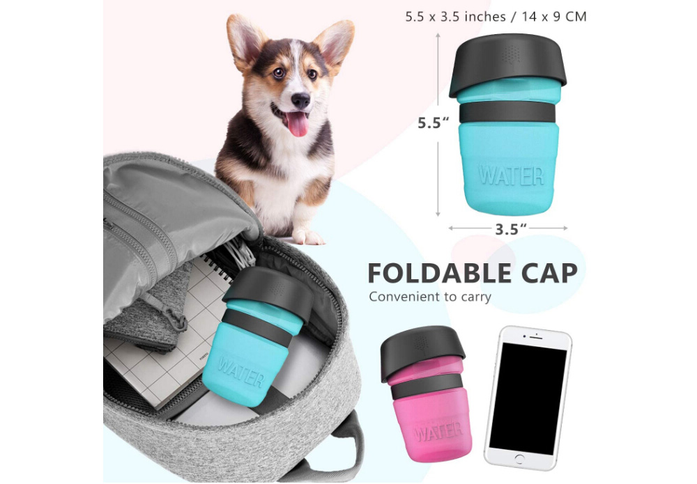 Creative Pet Water Bottle Sports Squeeze Traveling Cup Portable Outdoor Cat and Dog Kettle - Pink