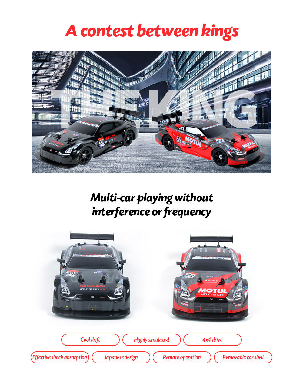 1:16 2.4G High Speed Drift Remote Control Car Multi-car playing without interference or frequency