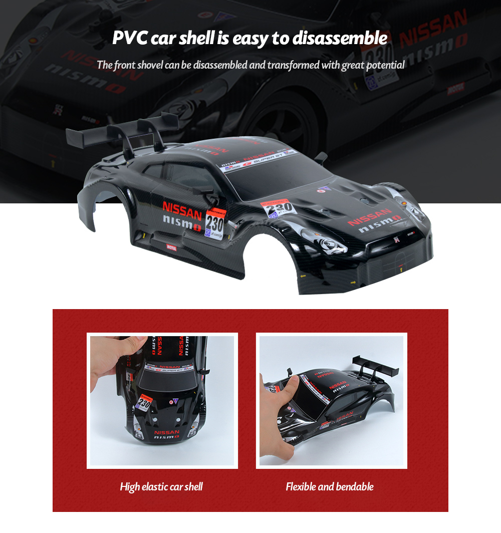 1:16 2.4G High Speed Drift Remote Control Car PVC car shell is easy to disassemble