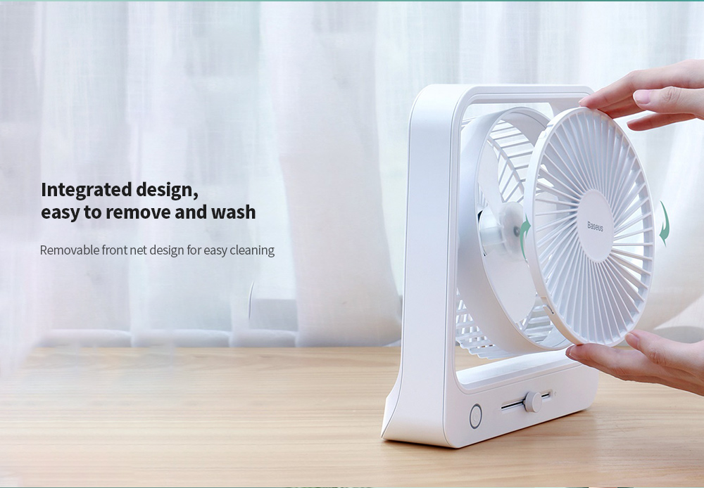 Baseus CXMF-02 Shaking Fan Integrated design, easy to remove and wash