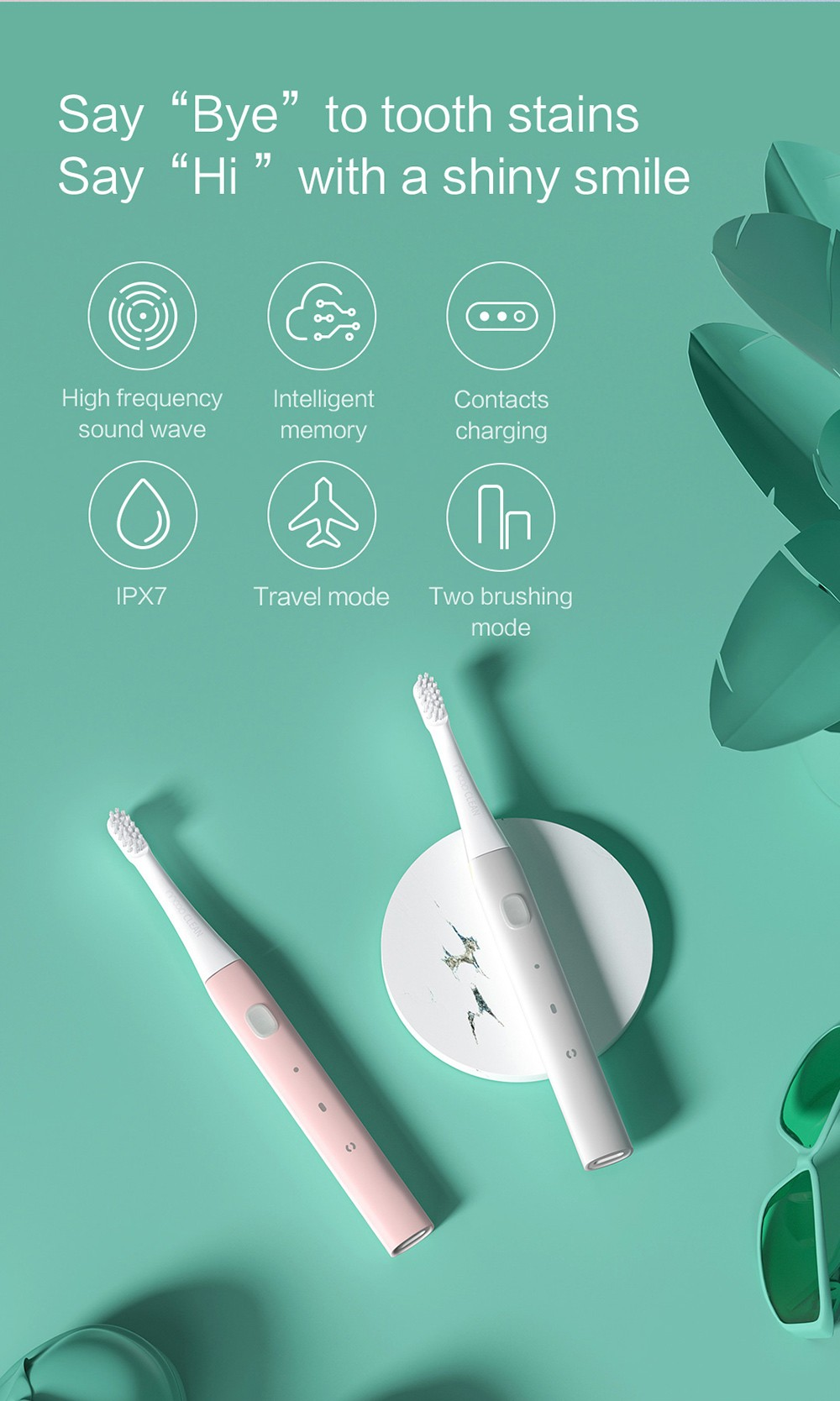 PT01 Electric Toothbrush features