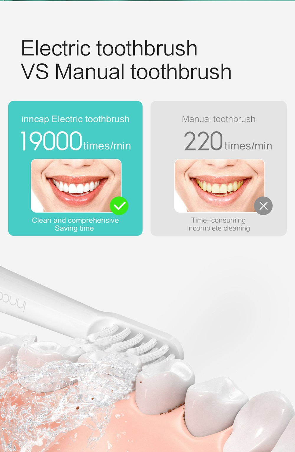 PT01 Electric Toothbrush contrast