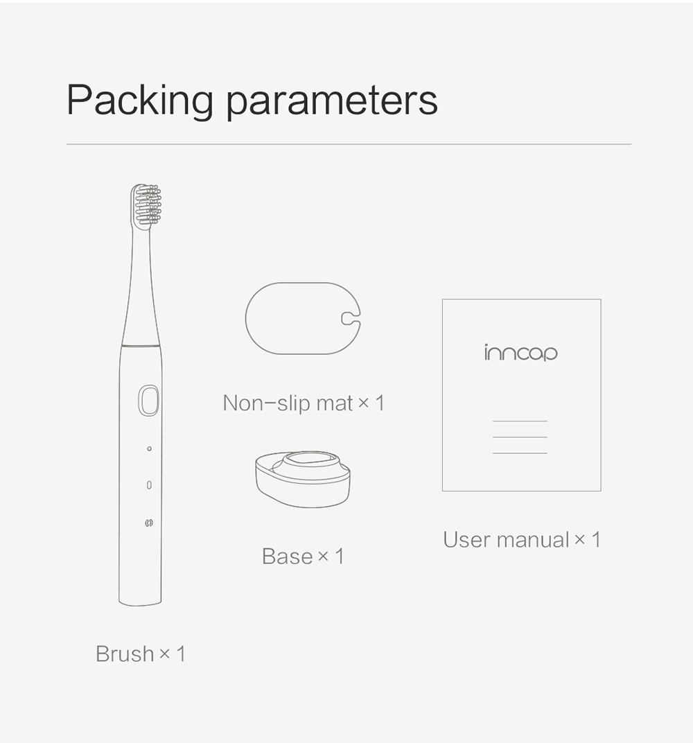 PT01 Electric Toothbrush Packing parameters