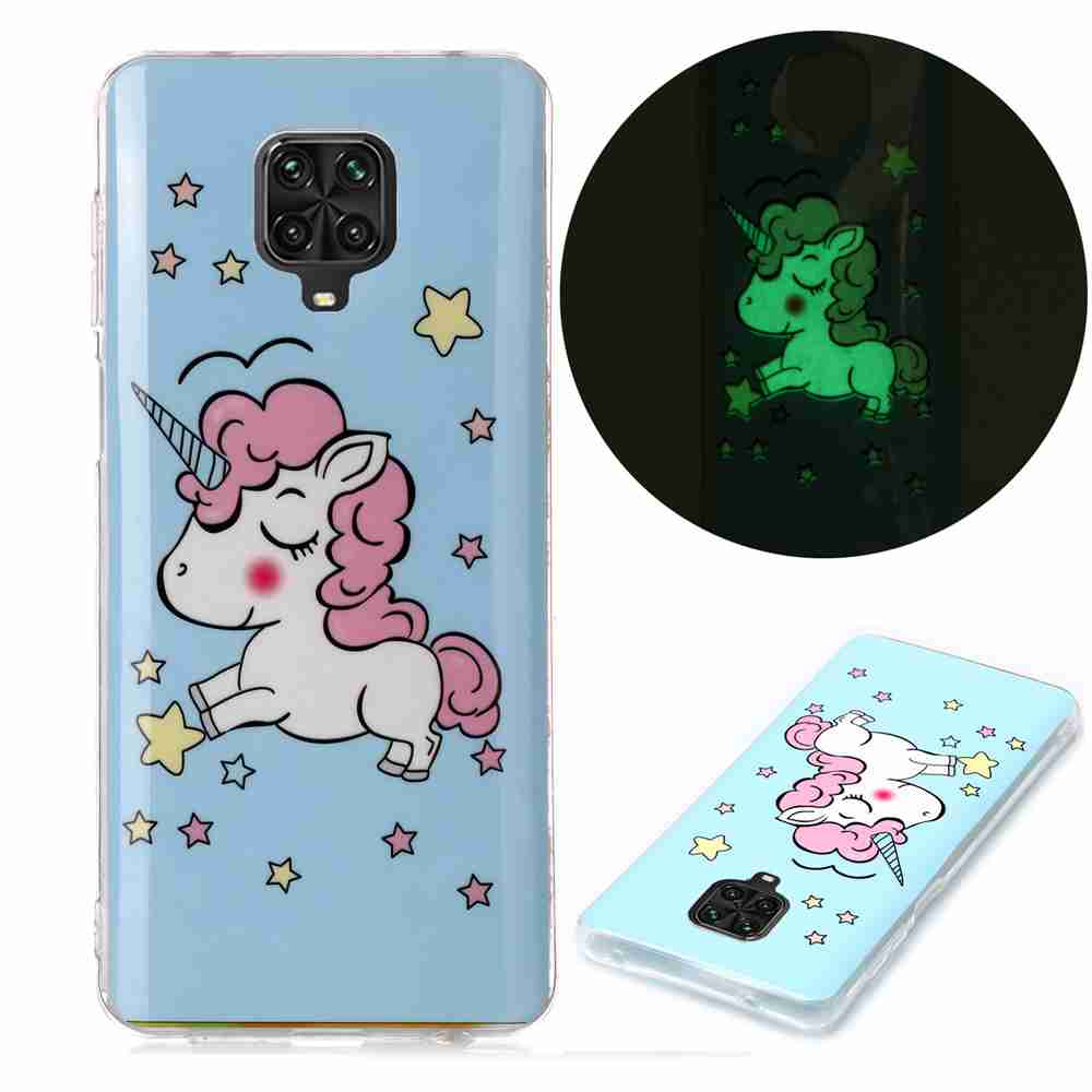 Luminous Painted TPU Phone Case for Xiaomi Redmi Note 9 Pro / Redmi Note 9S - Multi-R