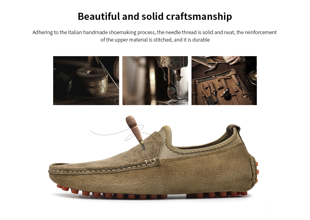 AILADUN Men Leather Casual Shoes Beautiful and solid craftsmanship