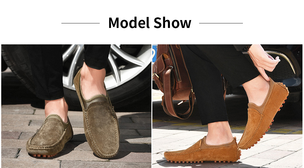 AILADUN Men Leather Casual Shoes model show