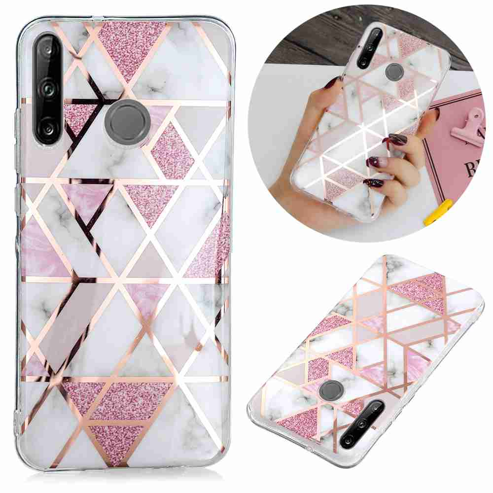 Electroplated Marble Process Phone Case for Huawei P40 Lite E - Multi-C