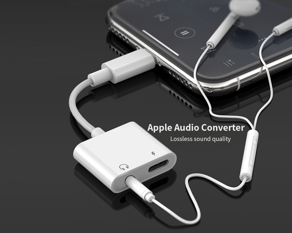 Charging Cable Adapter for iPhone - White