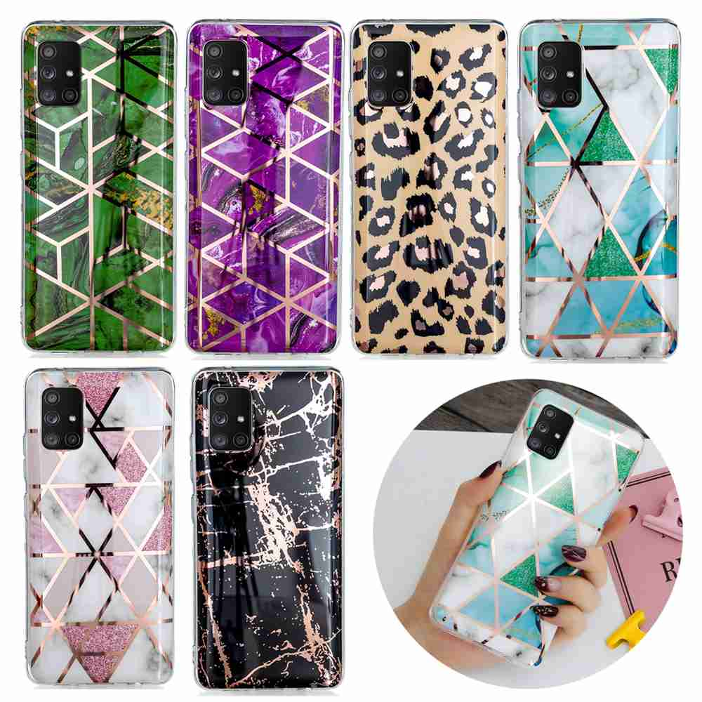 Electroplated Marble Process Phone Case for Samsung Galaxy A71 5G - Multi-B