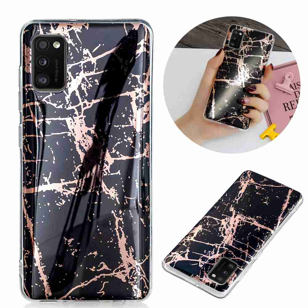 Electroplated Marble Process Phone Case for Samsung Galaxy A41 - Multi-B