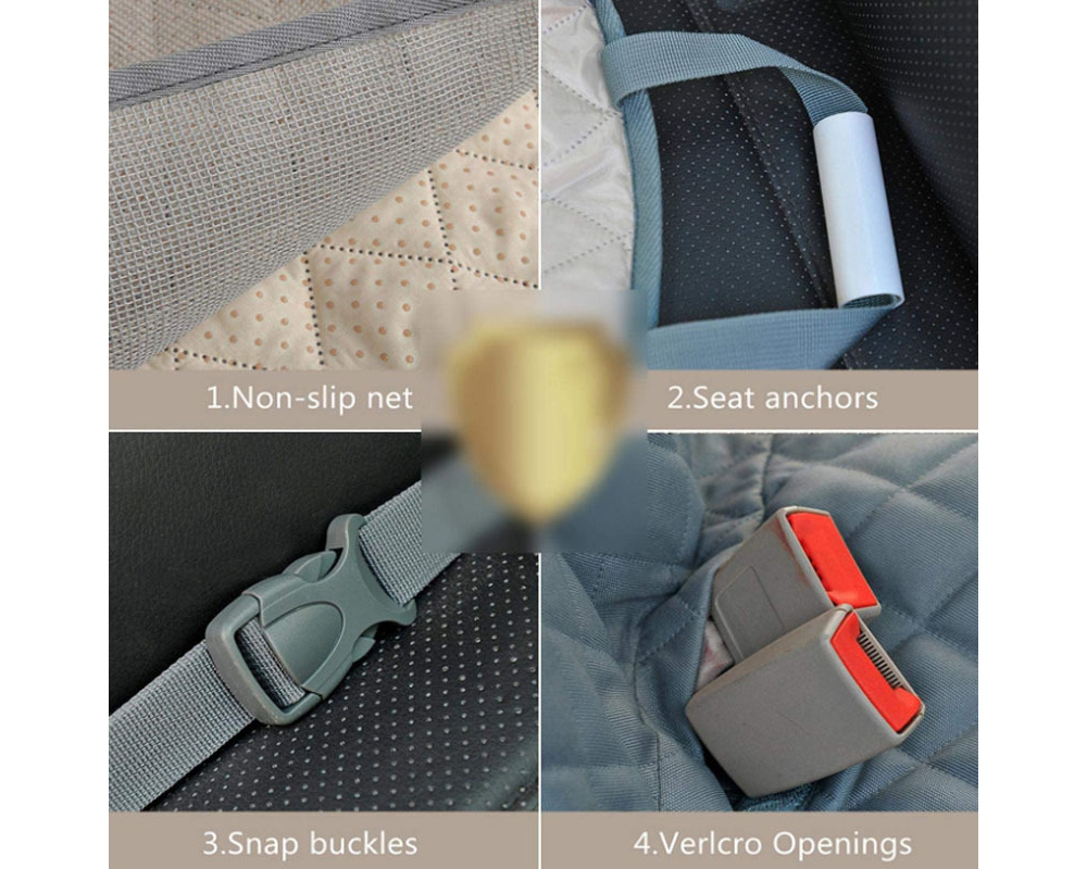 Car Trunk Mat Cover Pad for Pet Water Resistant SUV Cargo Liner for Dogs Non-skid Car Protector Mat Pet Seat Cushion - Gray
