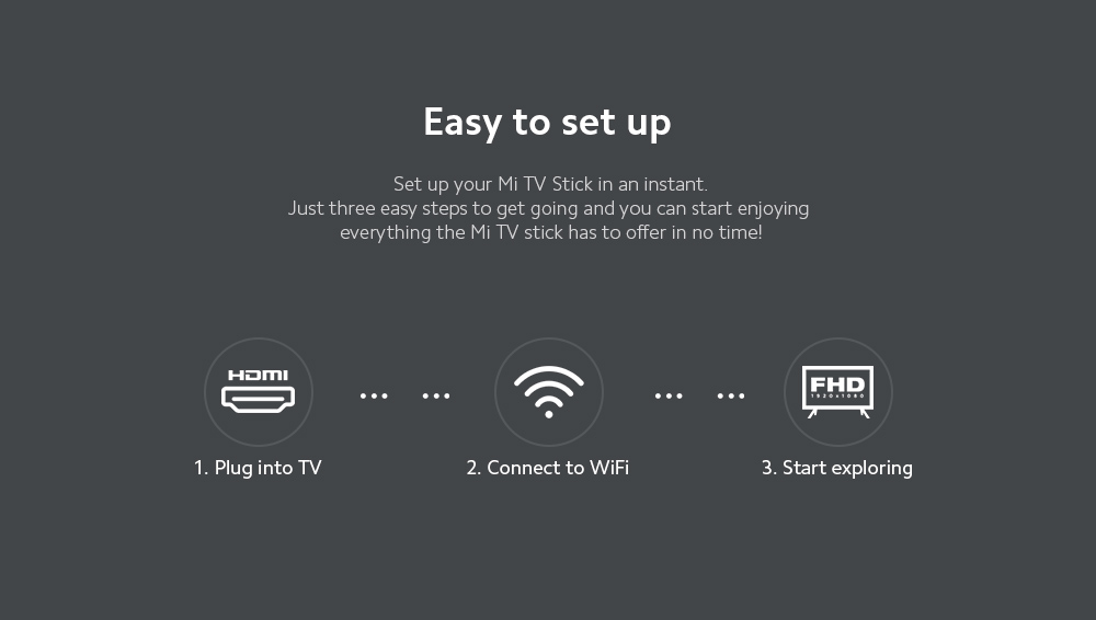 Xiaomi Mi TV Stick Easy to set up