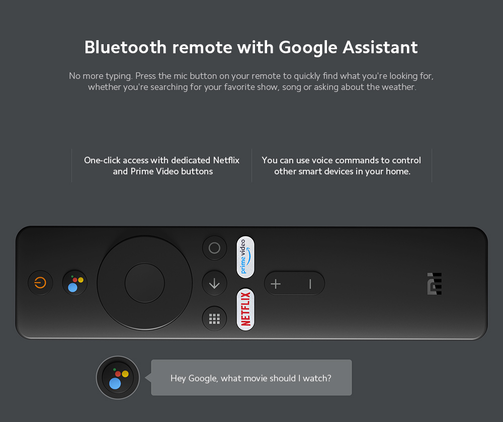 Xiaomi Mi TV Stick Bluetooth remote with Google Assistant