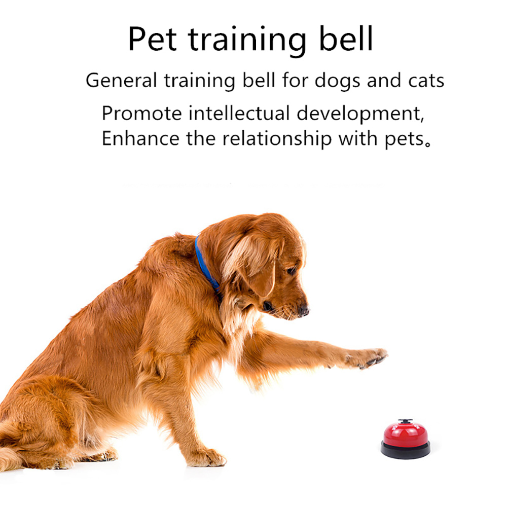 Cat Dog Trainer Interactive Educational Toys Called Footprints Meal Training Bell - Blue