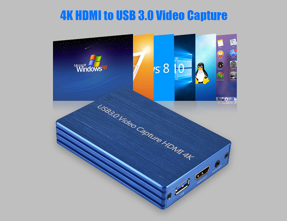 NK-S300 4K HDMI Capture Card - Dark Gray