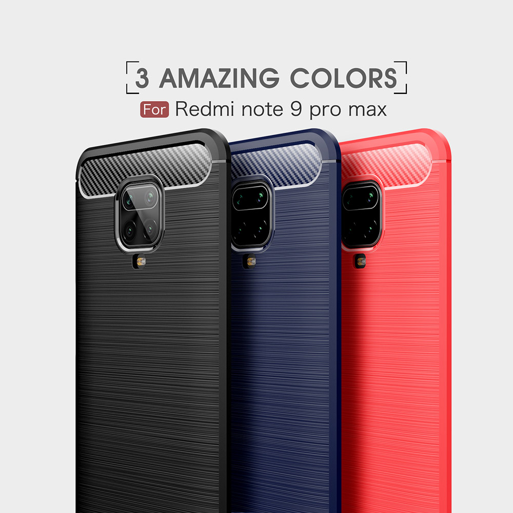 ASLING Phone Case for Xiaomi Redmi Note 9 Pro Max - Red