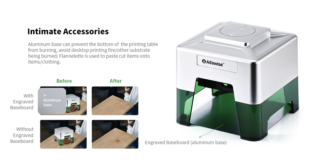 Alfawise C50 Smart Laser Engraver Accessories