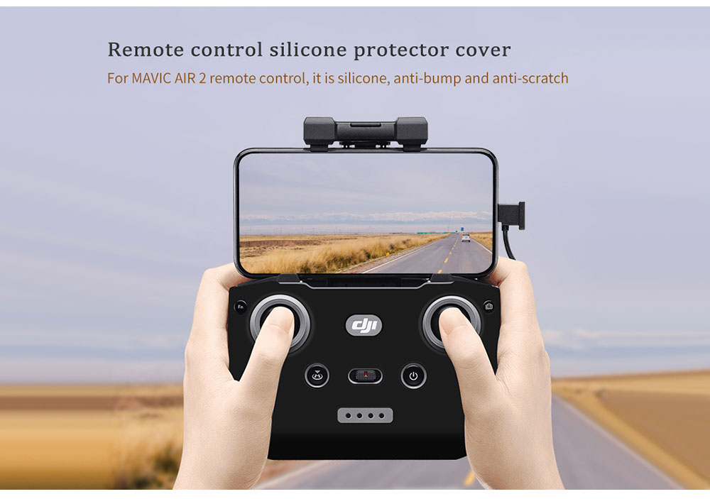 STARTRC Remote Control Sunshade Metal Joystick Protector Cover Set for DJI Mavic Air 2 - Black