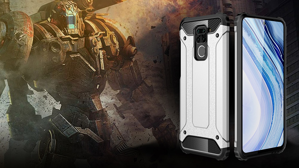 ASLING Armored Protection Phone Case Suitable for Xiaomi Redmi Note 9 - Rose Gold