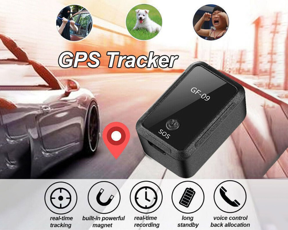 Gf-09 GPS Multifunctional Design Remote Answer Remote Record GPS Tracker - Black