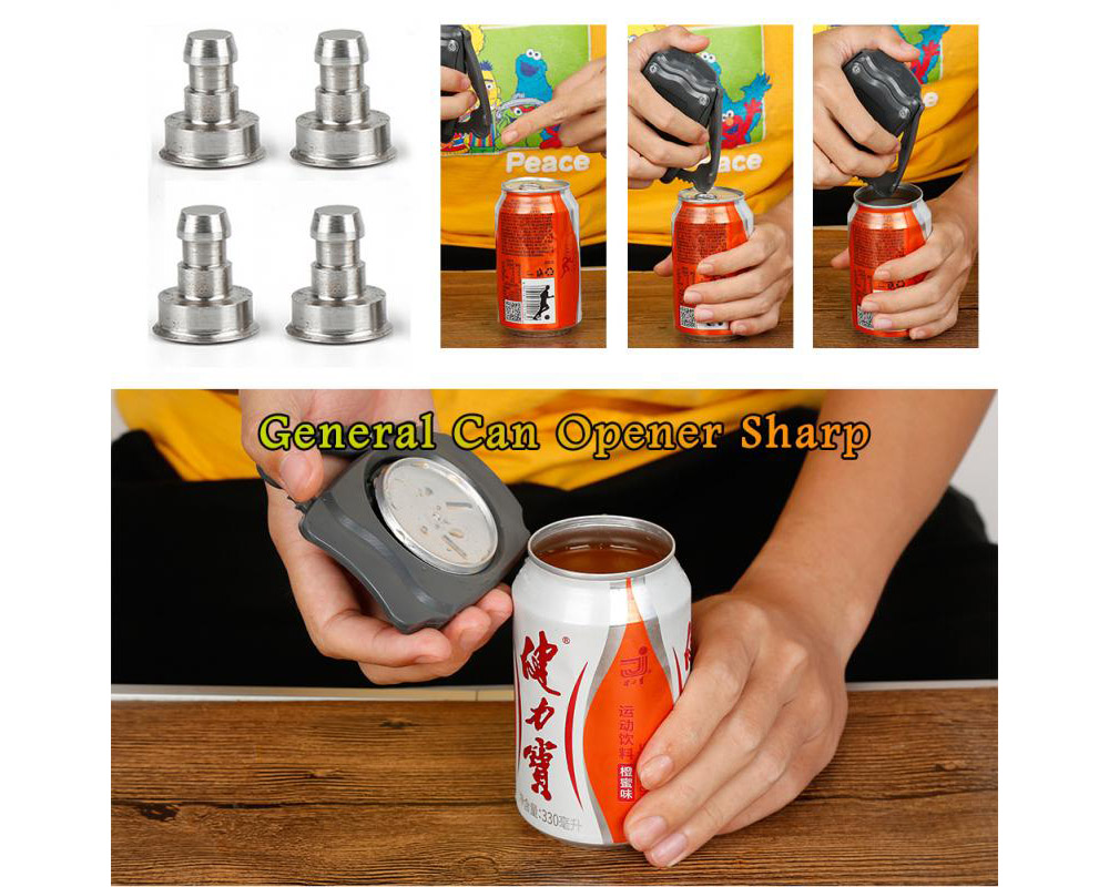 Bottle Opener Portable Beer Drink Cola Can Opener (US Version) - Gray