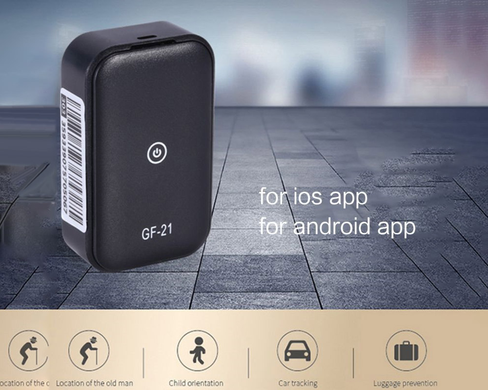 GF-21 GPS Locator Tracker Real Time Tracking Historical Track - Black
