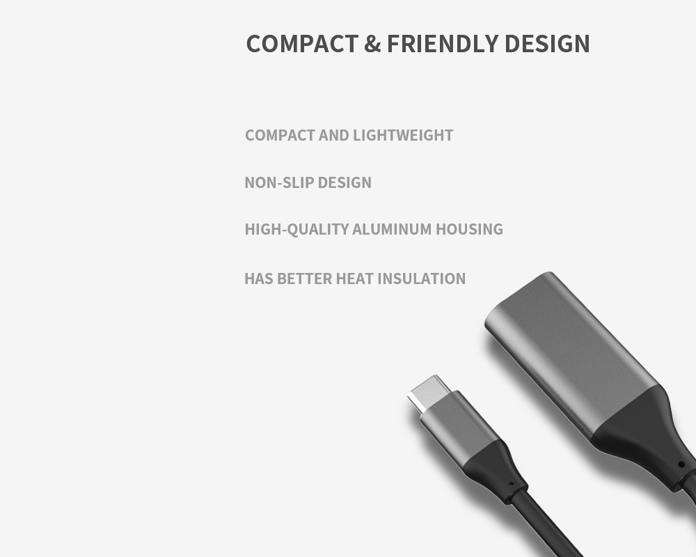 HB035 USB C to HDMI Adapter - Gray