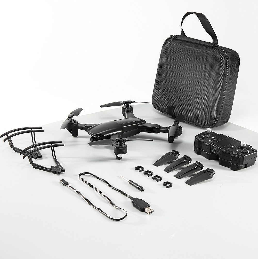 SG701 2.4G WIFI FPV Foldable RC Quadcopter Drone RTF - Black 1 Battery With Foam Case