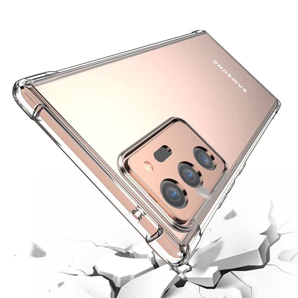 Transparent Shockproof Soft TPU Phone Case for Samsung Galaxy Note 20 Plus - Transparent