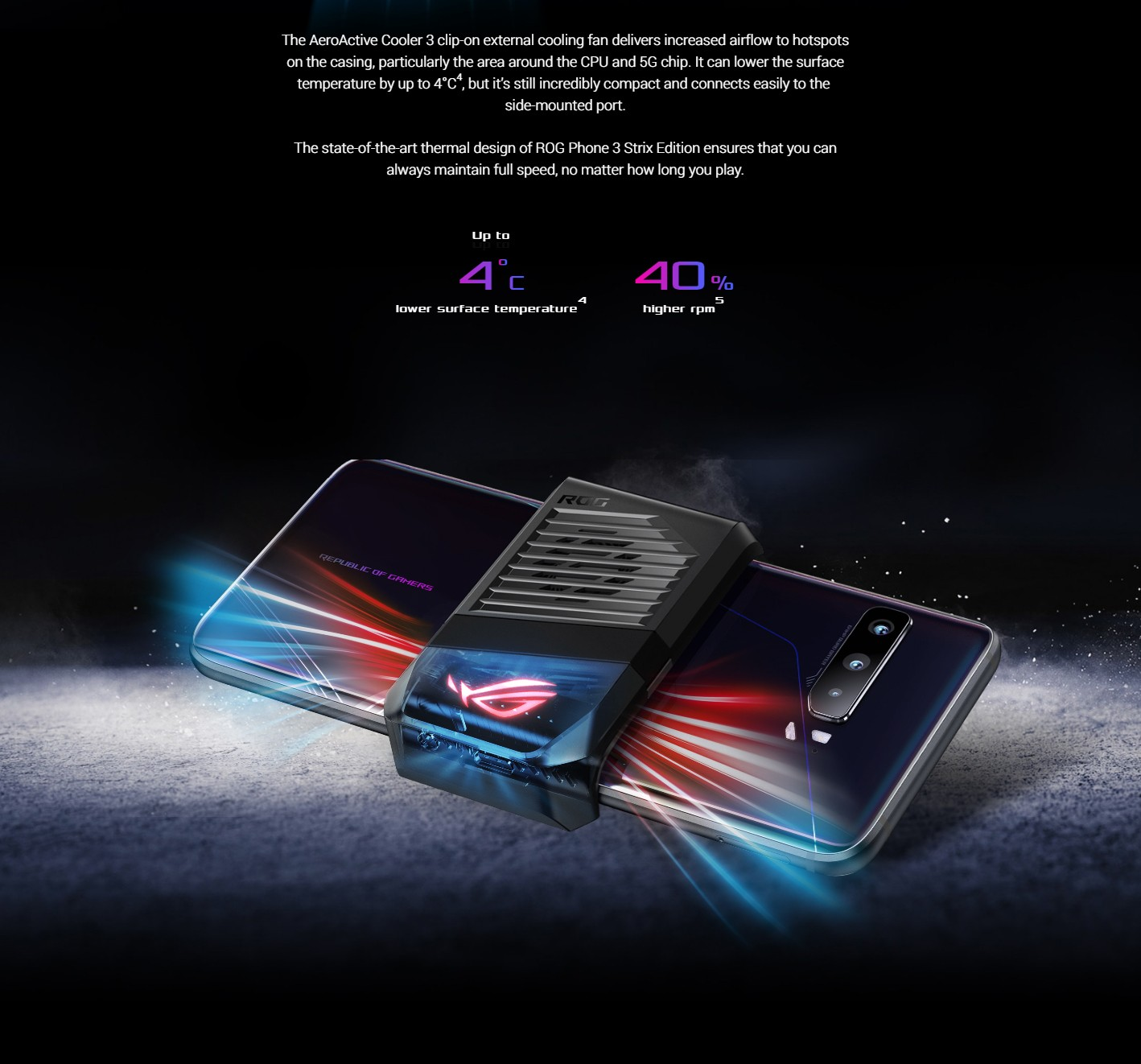 ASUS ROG Phone 3 Gaming 5G Smartphone Cooling System