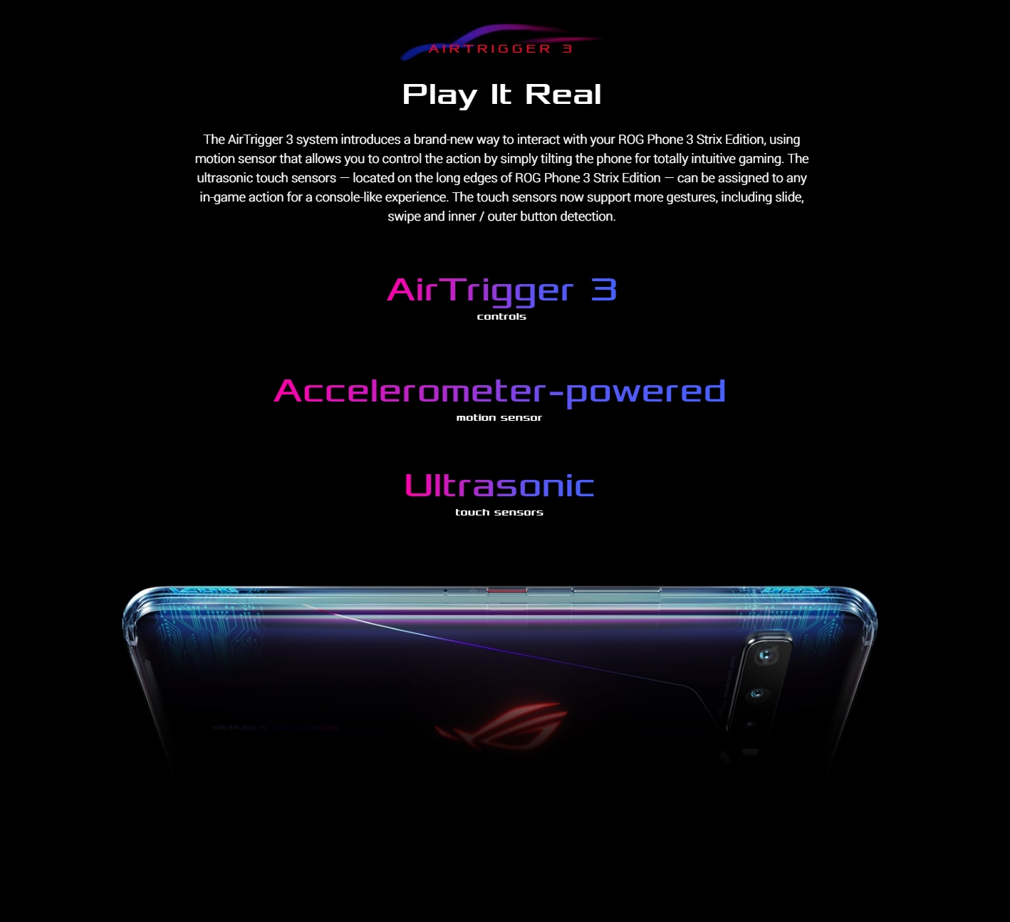 ASUS ROG Phone 3 Gaming 5G Smartphone Air Trigger 3