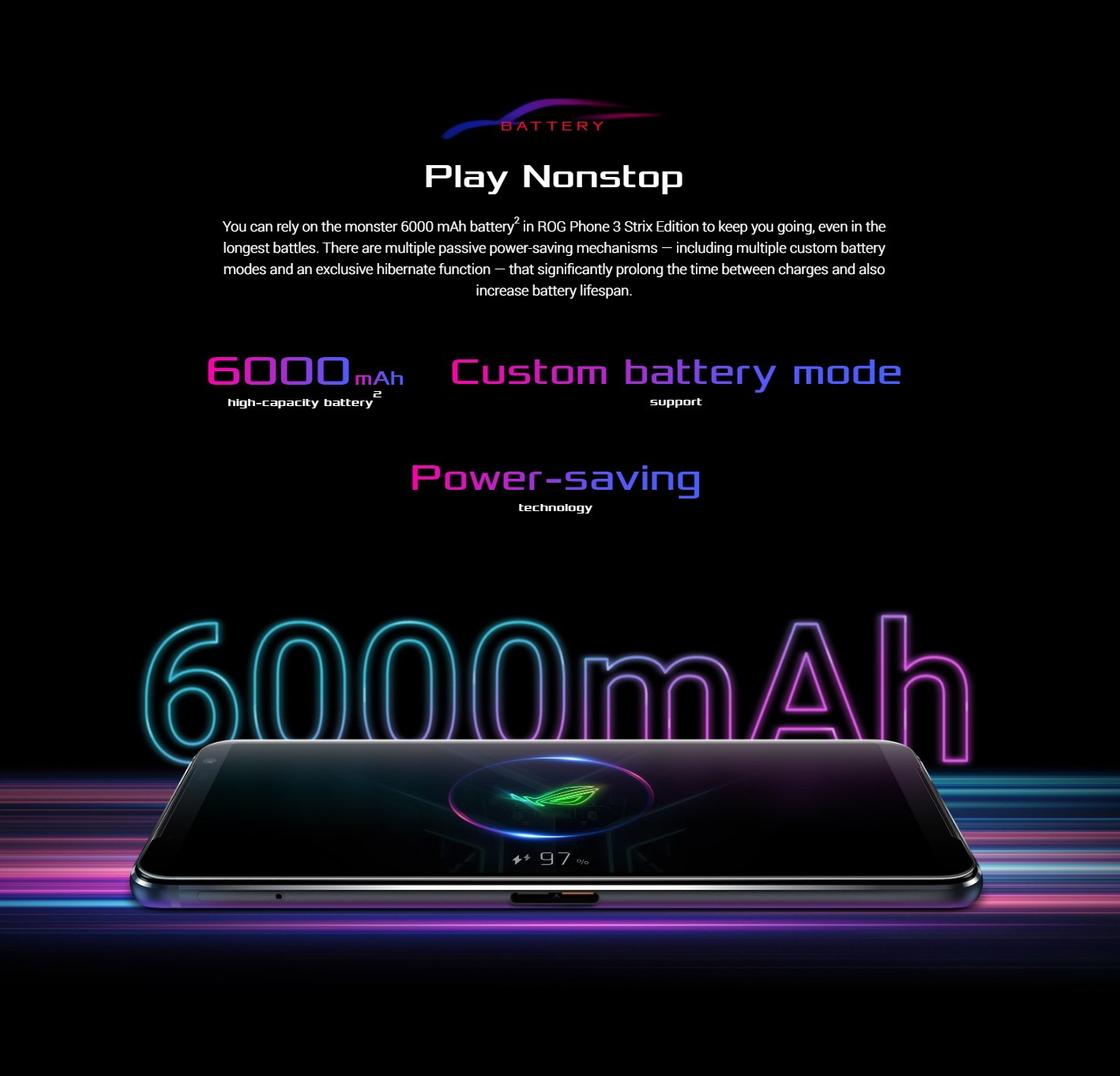ASUS ROG Phone 3 Gaming 5G Smartphone Battery