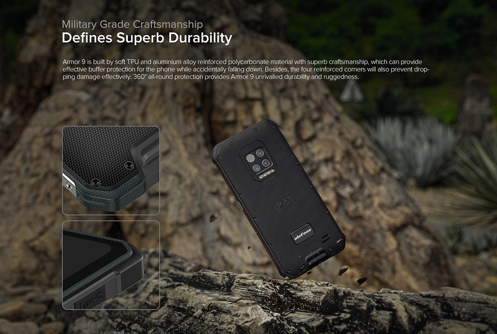 Ulefone Armor 9 4G Smartphone NFC Global Version - Black EU Version