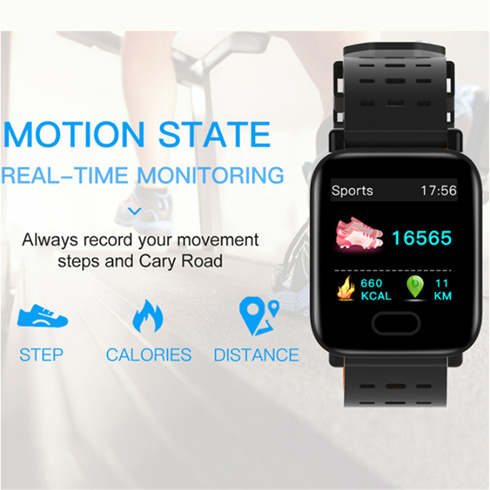 A6 Rate-pressure Monitoring Sleep IP67 Waterproof Sports Smart Watch - Orange