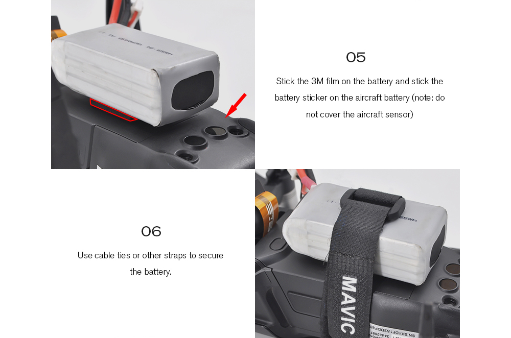 STARTRC Power Outconnector Battery Power Supply Booster Kit for DJI Mavic Air - Black