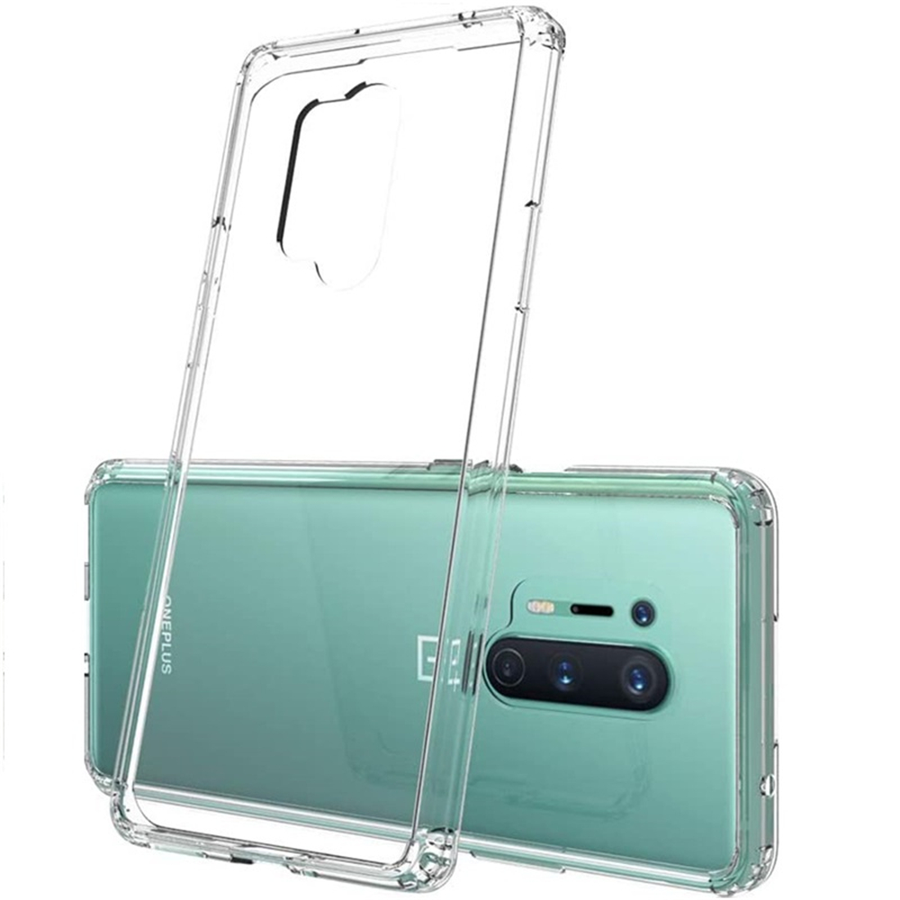 TPU Soft Shockproof Phone Case for Oneplus 8 Pro 2PCS - Transparent
