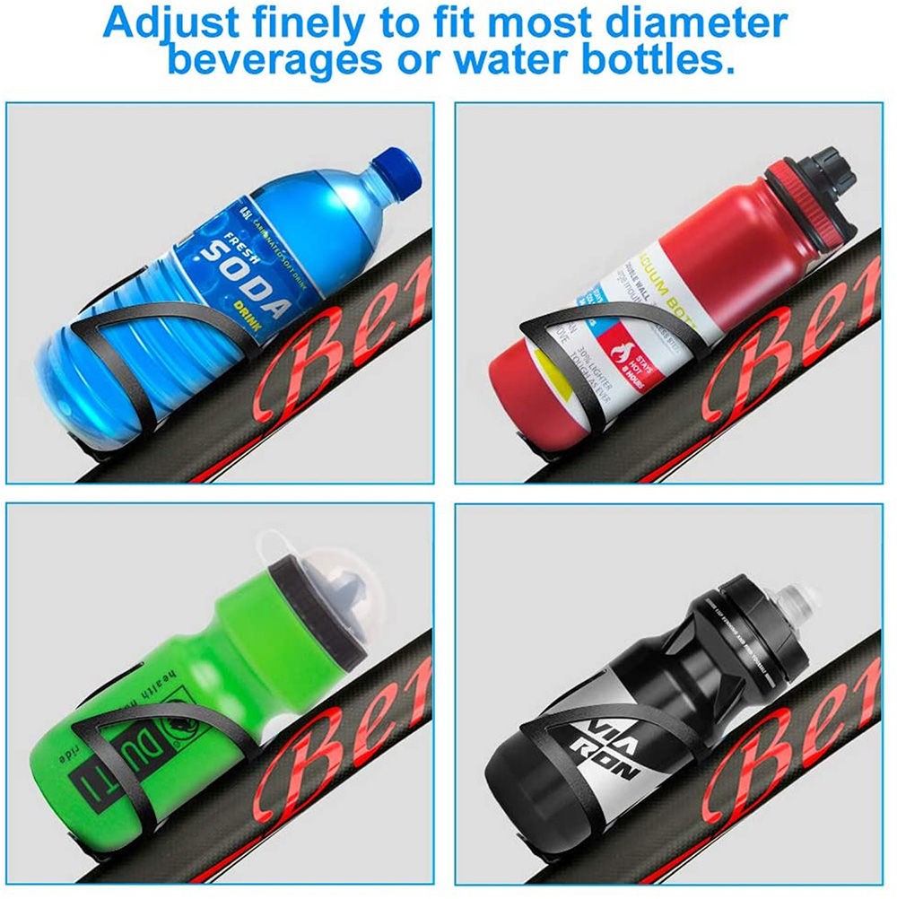 Bicycle Bottle Cage Aluminum Alloy Universal Mountain Road Bike Water Cup Holder Bicycle Water Holder Riding Equipment - Black