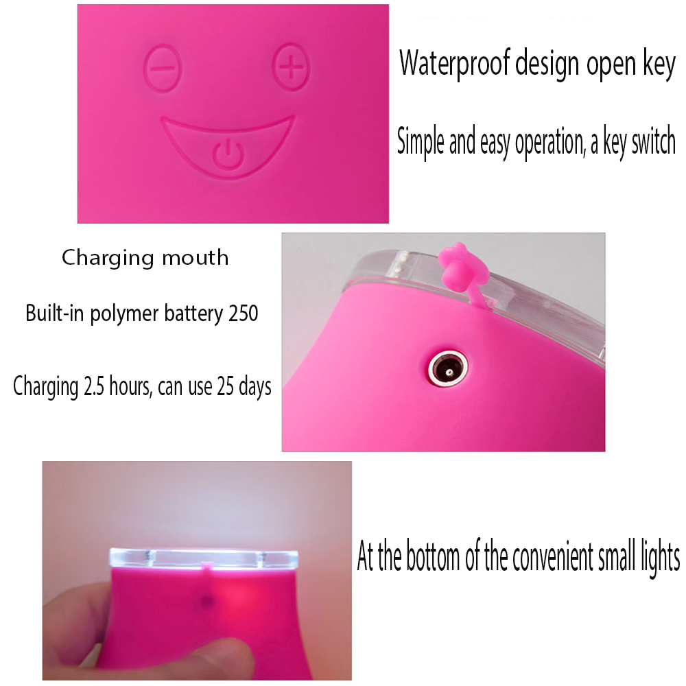 E-005 Purifying Silicone Facial Cleanser Cleansing Instrument Face Skin Care Tool - Pink