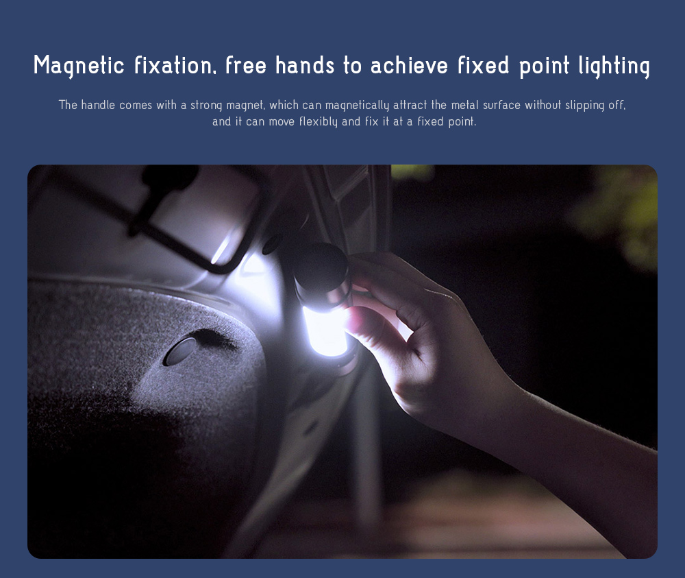 NexTool Outdoor 6-in-1 Thunder Flashlight Magnetic fixation, free hands to achieve fixed point lighting