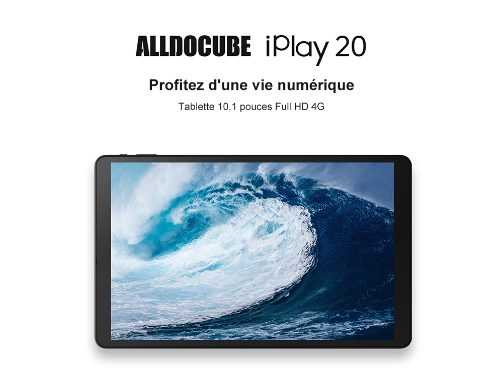 ALLDOCUBE iPlay 20 SC9863A Octa Core 4GB RAM 64GB Rom 4G LTE 10.1 inch  Android 10.0 Tablet - Black