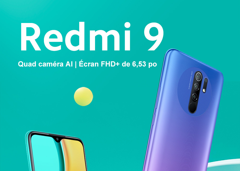 Xiaomi Redmi 9 4G Smartphone Media Tek Helio G80 UP TO Octa-core 6.53 inch Rear Camera 13MP + 8MP + 5MP + 2MP Battery 5020mAh EU Version - Purple 4GB+64GB