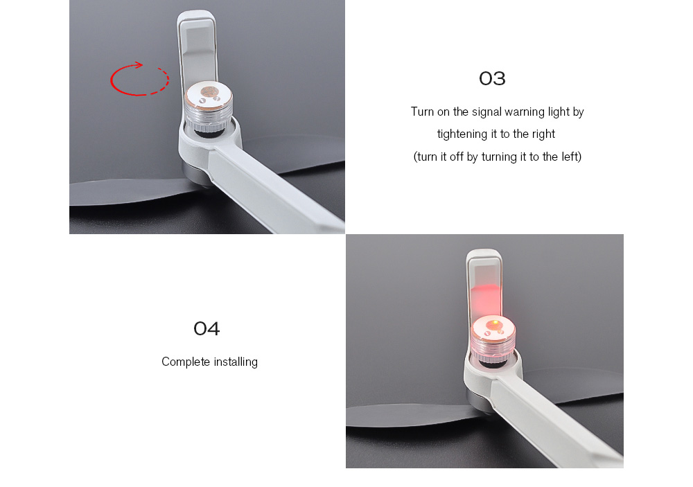 STARTRC Indicator Light for DJI Mavic Series / Quadcopter / Car Model - White