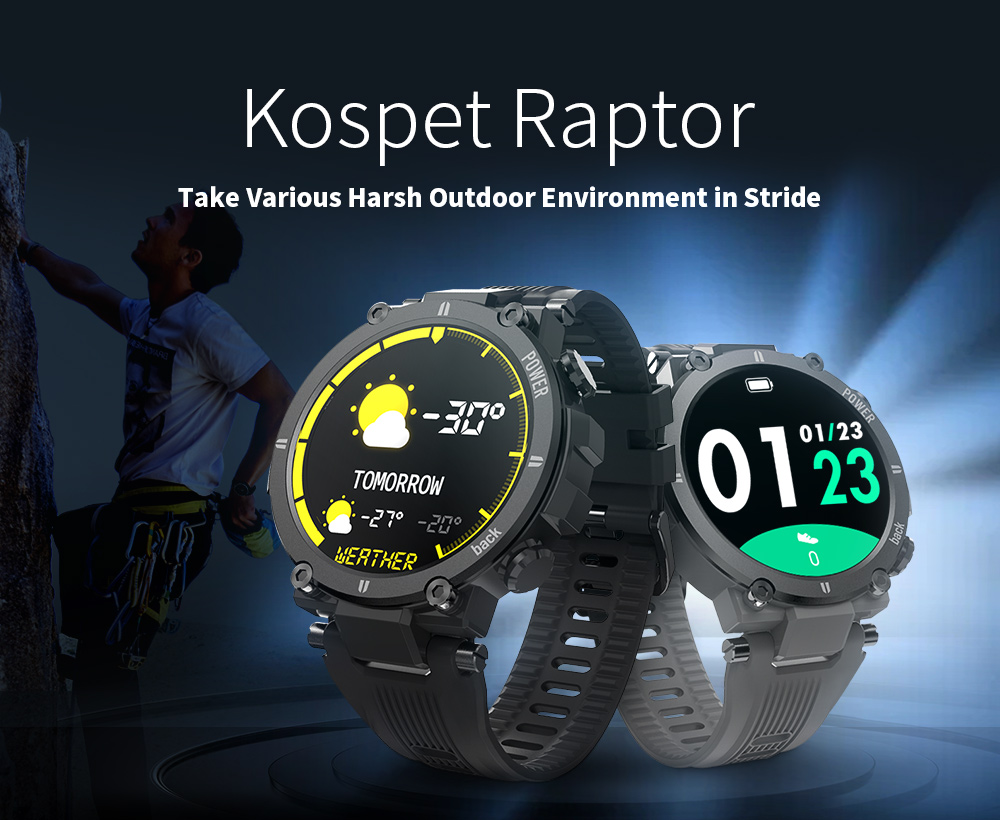 Kospet Raptor Outdoor Smart Watch - Gray
