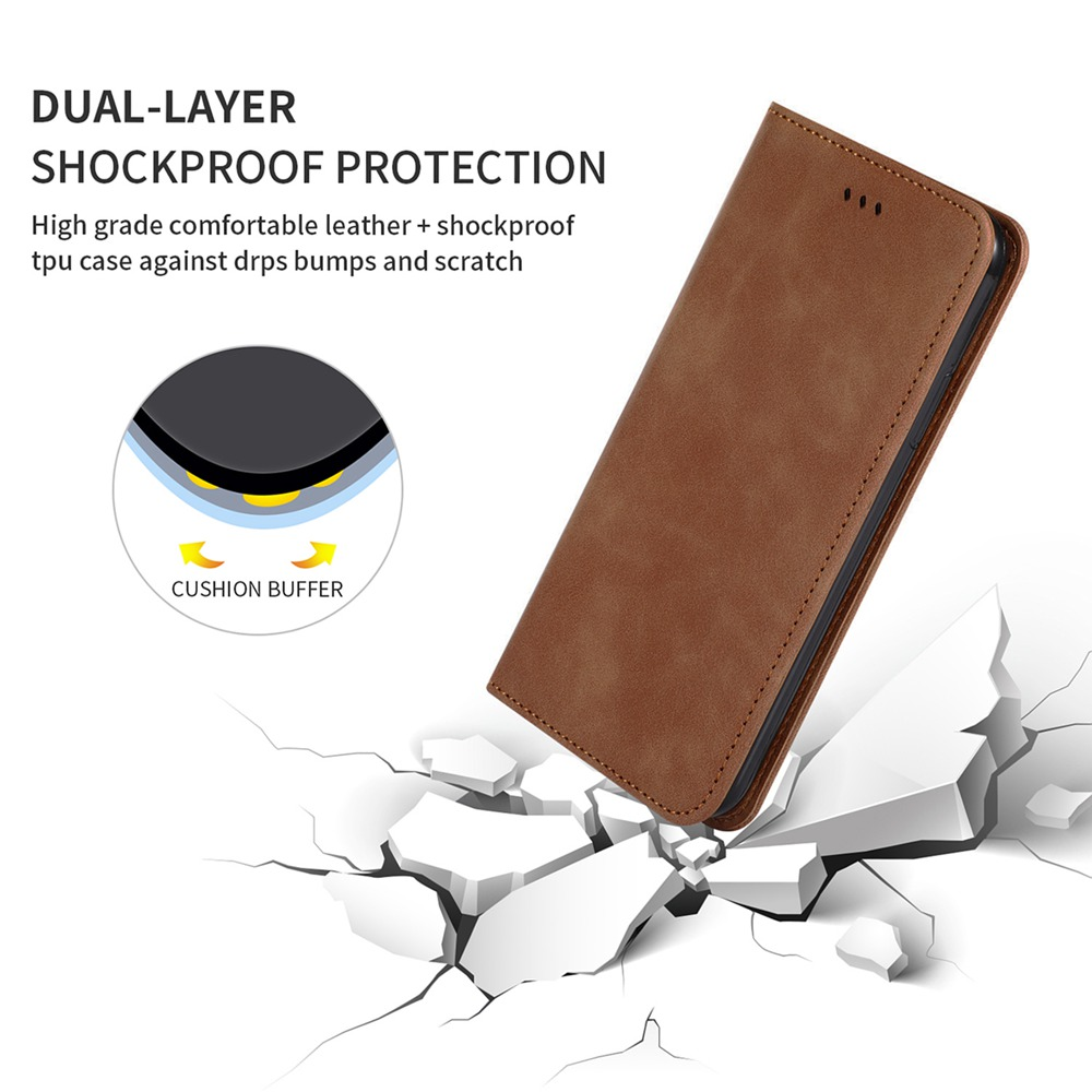 CHUMDIY Luxury Card Protection Leather Phone Case for Xiaomi Redmi 9 - Army Green