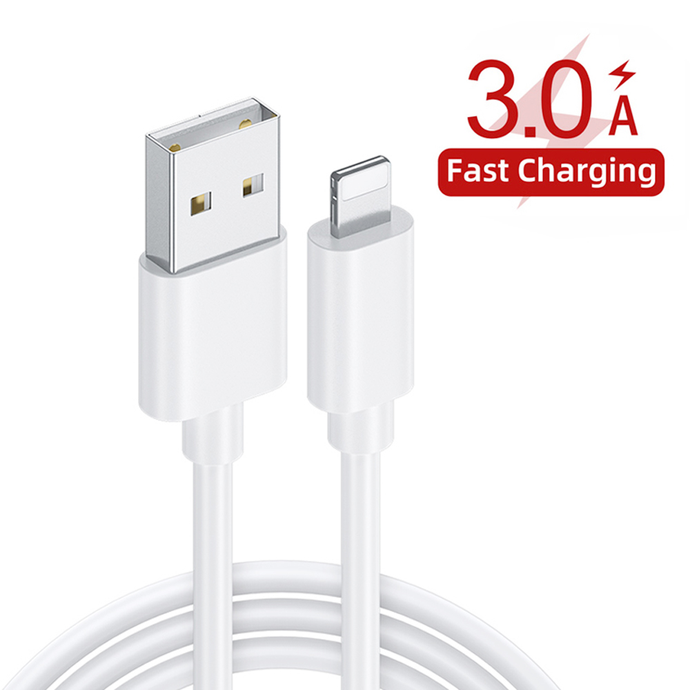 PD3.0 + USB3.0 Fast Charge Double Charging Head with Fast-charge Line Phone Fast Charge Set - White EU Plug
