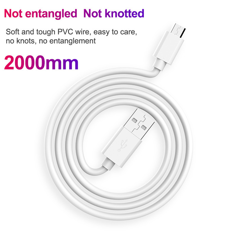 PD3.0 + USB3.0 Fast Charge Double Charging Head with Fast-charge Line Phone Micro Kit Quick Charge - White US Plug (2-pin)