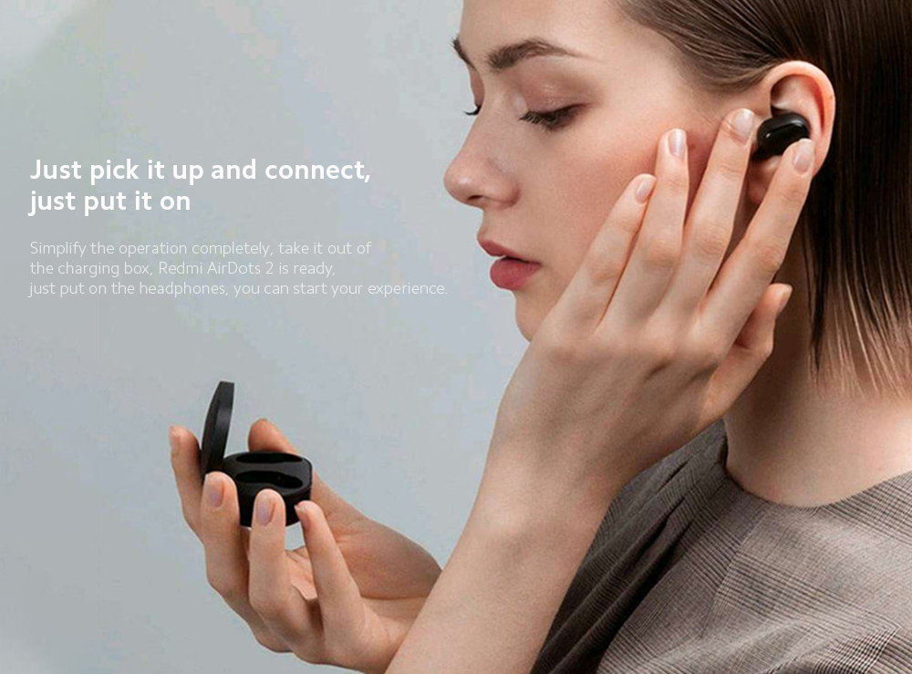 Xiaomi Airdots 2 Wireless Earphone Just pick it up and connect, just put it on