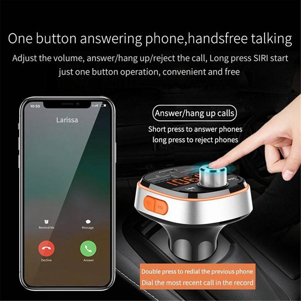 BC51T Bluetooth Car Mp3 Player Lossless sound quality music, audio decoding